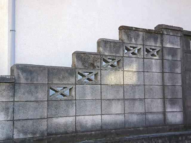 透かしブロックX型・階段状