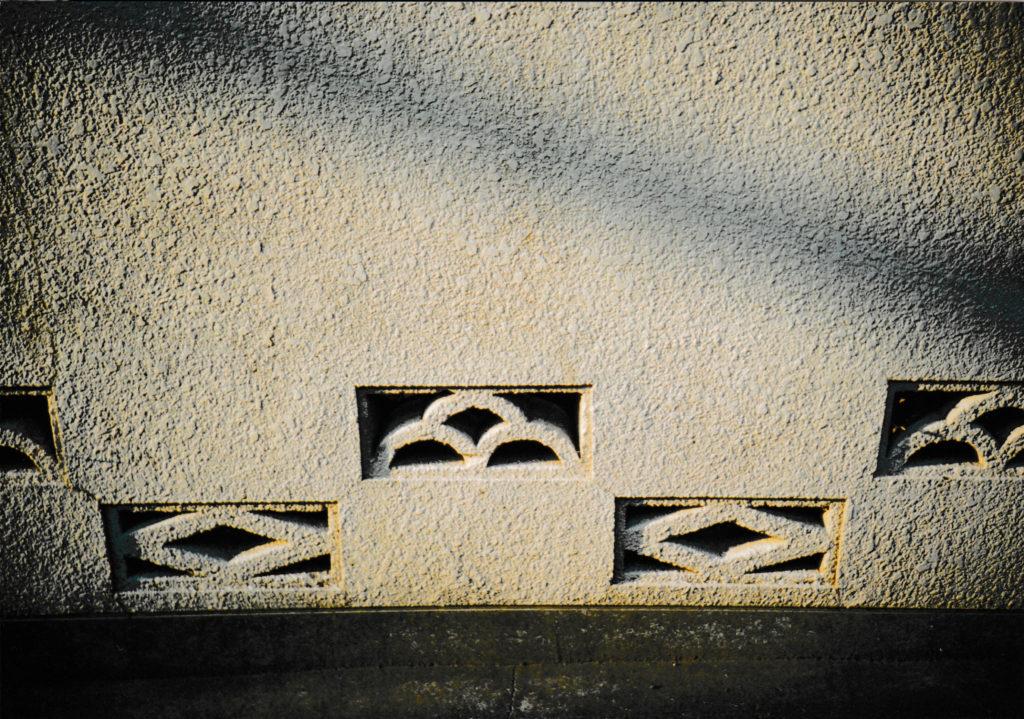 透かしブロック・2パターン(撮影地不明)