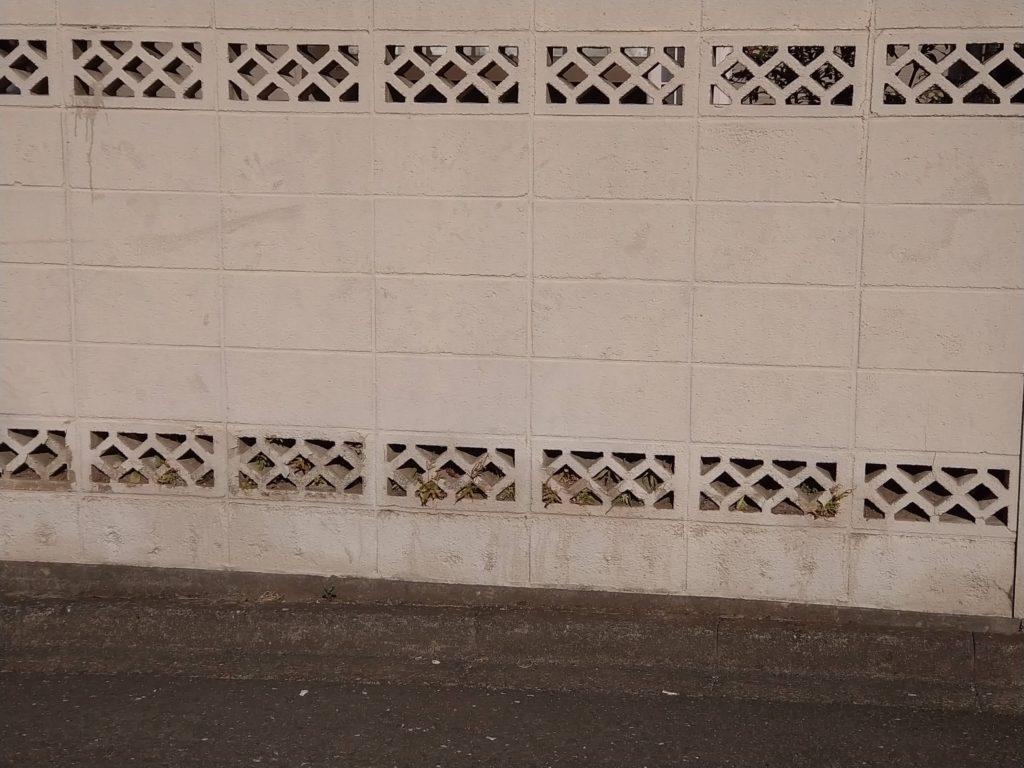 透かしブロック(ひし型)川越