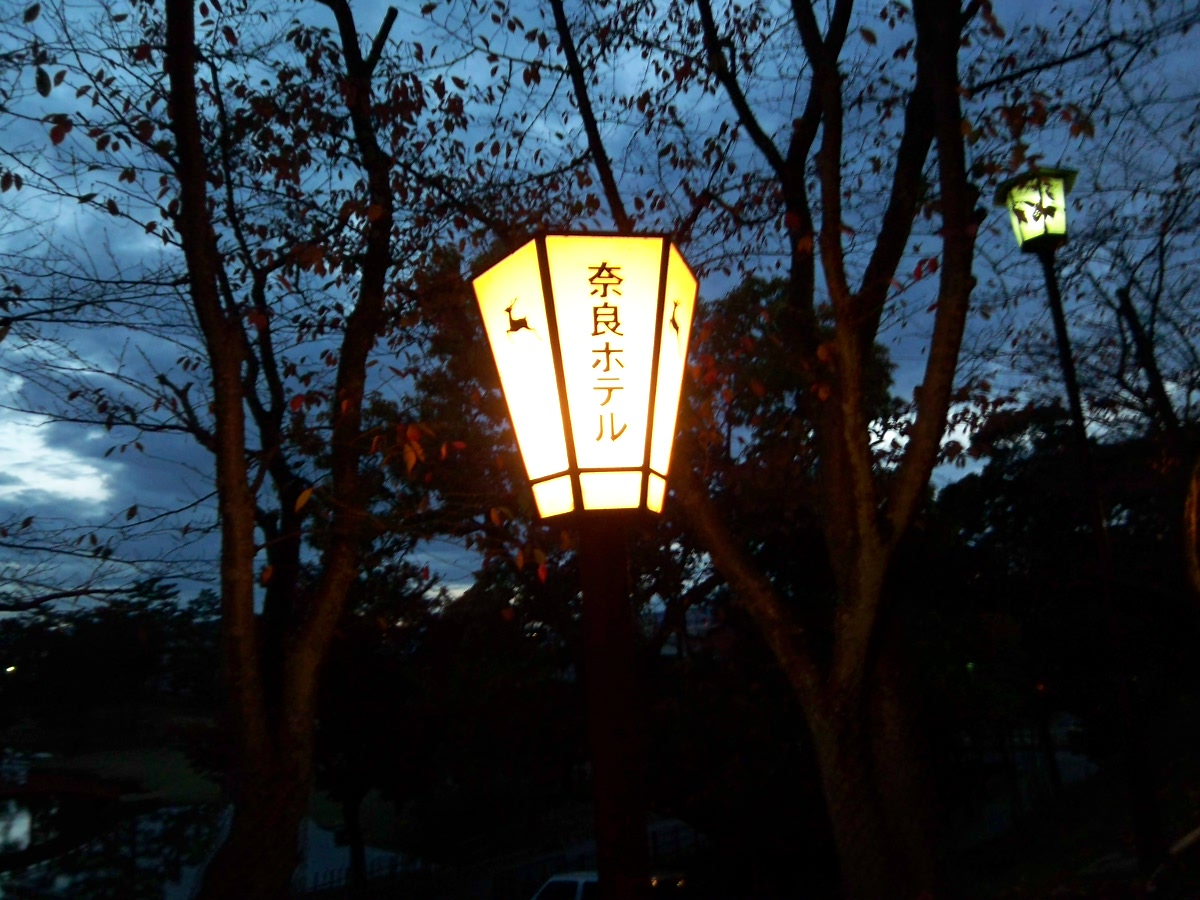 奈良ホテルの鹿外灯